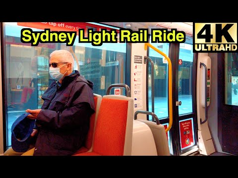 [4K] SYDNEY LIGHT RAIL RIDE 🚊| CIRCULAR QUAY | CHINATOWN | CAPITOL SQUARE | AUSTRALIA 🇦🇺