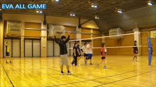 【男女混合バレーボール】All#36-3 EVA25点ゲーム後半+15点[Commentary]解説 Men and Women Mixed Volleyball JAPAN TOKYO
