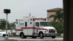 5x Lee County EMS Ambulance + Engine 32 Fort Myers Beach Fire Department on run