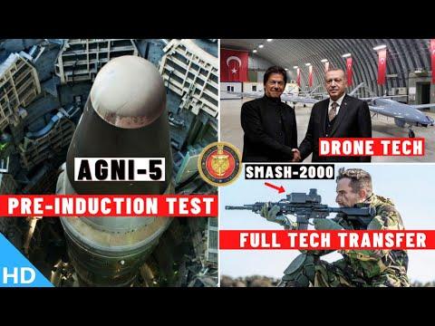 Download Indian Defence Updates : AGNI-5 Pre-Induction Test,Klub AShM Test,SMASH-2000 Full ToT,Drone Tech PAK