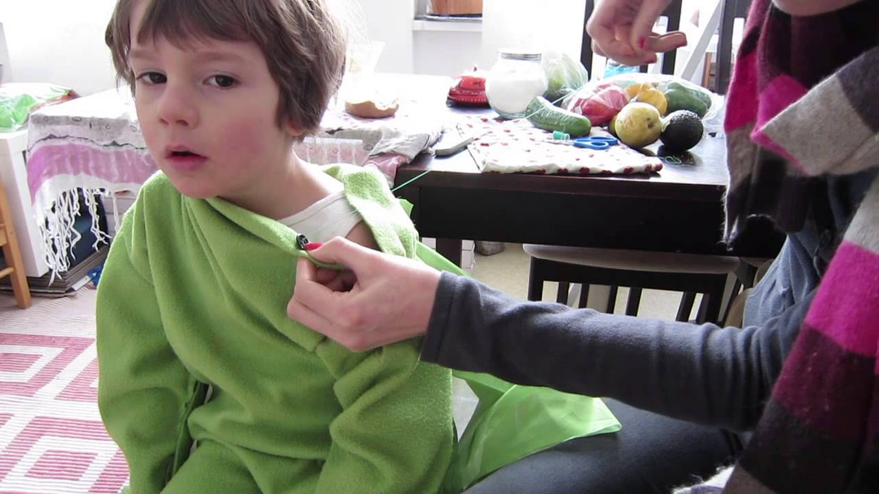Dino Kostüm Selber Machen: DIY Kinder Faschings-Outfit DINO/ Drache, Einfaches Outfit