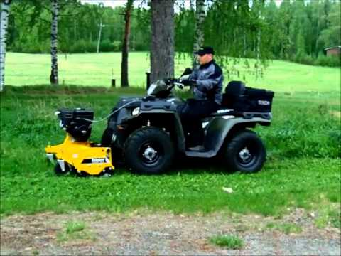 Rammy Flail Mower 120 Atv Lawn Mower Atv Youtube