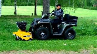 Rammy Flail mower 120 ATV. Lawn mower ATV.