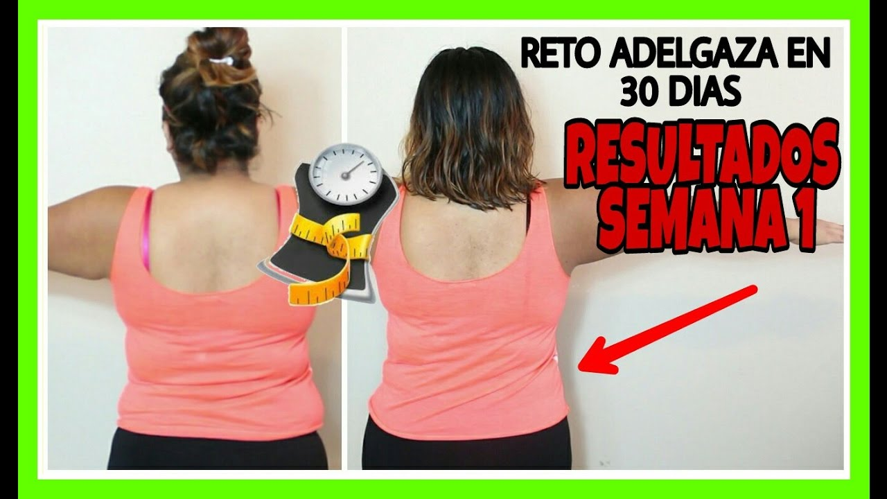 reto para bajar de peso en 30 dias en español
