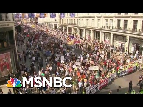 Massive Protests In London As President Donald Trump Meets With The Queen, PM   Hardball   MSNBC