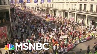 Massive Protests In London As President Donald Trump Meets With The Queen, PM | Hardball | MSNBC