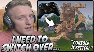 Tfue Explains Why Building On CONSOLE Is BETTER Than PC & Why He Will SWITCH To Controller!