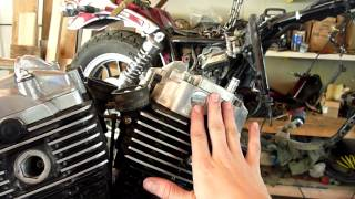 1983 Honda VT750c Shadow Aero V-Twin engine removed