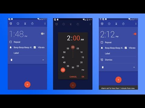 How to set alarm in android motorola droid mini xt1030