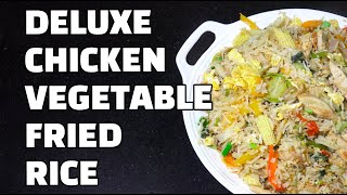Chicken Fried Rice - Chicken Vegetable Fried Rice - Chinese Chicken Rice