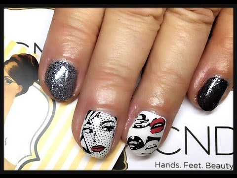 Pop Art Nails With Cnd Shellac Moyou London Youtube