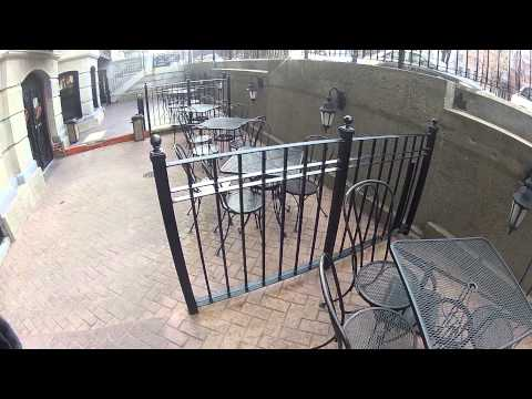 HD Clip of Boston Restaurant Patio Table and Chairs