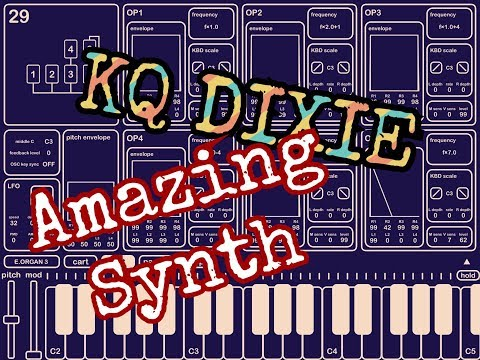 KQ DIXIE FM Synth - AUv3 - Audiobus - IAA - Universal - Outstanding -  Demo for the iPad