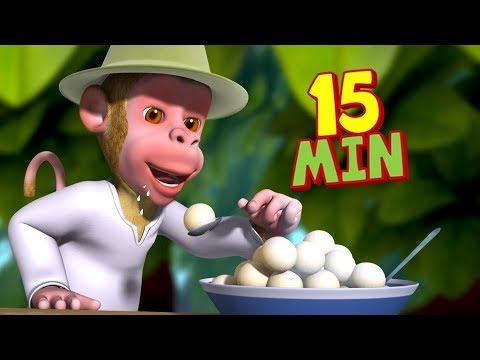 Bandar Mama Pahan Pajama - Monkey Songs Collection   Hindi Rhymes for Children   Infobells