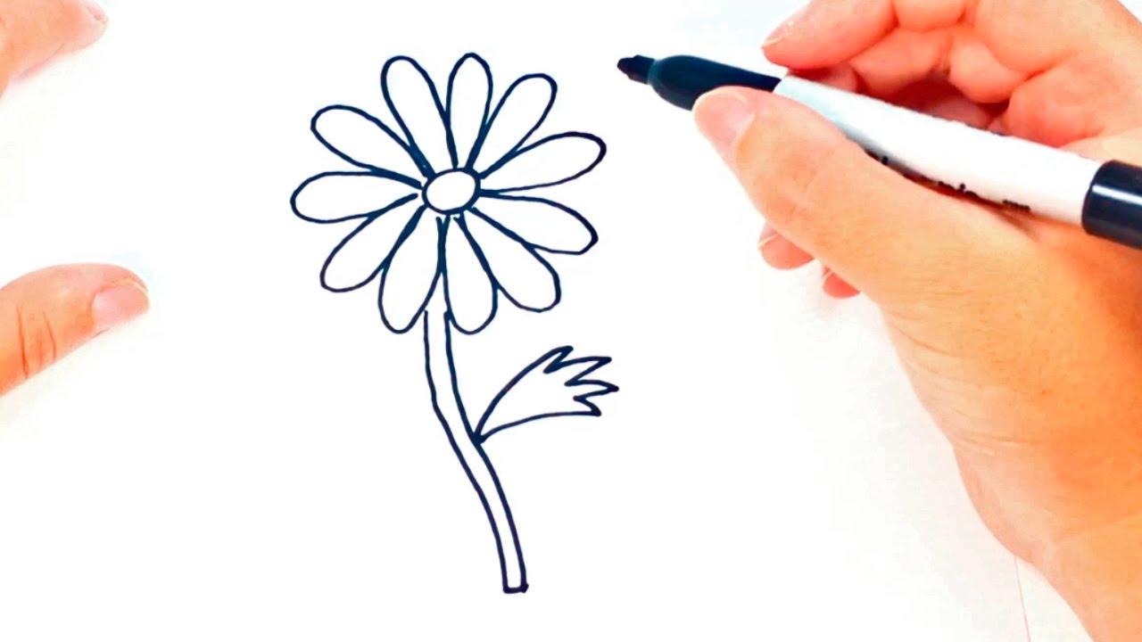 How To Draw A Daisy Flower Daisy Flower Easy Draw Tutorial Youtube