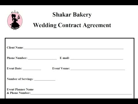 How To Draft A Wedding Cake Contracts Business Basics  Youtube