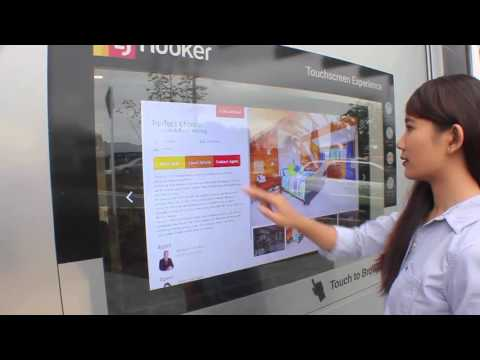 LJ Hooker Real Estate Touch Screen Display