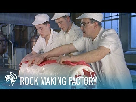 'London Rock' Making Candy Factory (1957) | British Pathé
