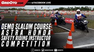 Download Video Demo Slalom Course Astra Honda Safety Riding Instructor Competition MP3 3GP MP4