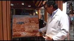 Luis Medina Enriquez, artista plástico de Alangasi, ha recorrido el mundo con su obra