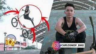 BMX HACE SUS MEJORES  trucos en PARK | 10 trucos con Carlos Mora