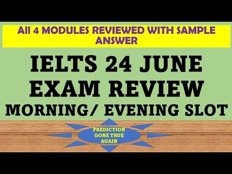 IELTS 24TH JUNE EXAM REVIEW: MORNING / EVENING SLOT LRWS    PREDICTION GONE TRUE    SAMPLE ESSAY