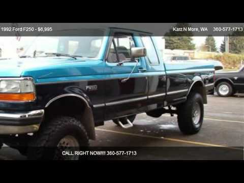 2012 F250 For Sale >> 1992 Ford F250 HD SuperCab 4WD - for sale in Longview, WA 98632 - YouTube