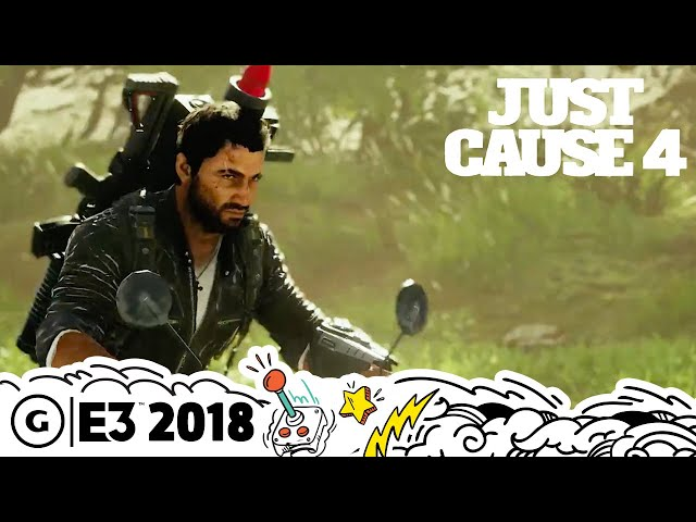 Just Cause 4's Tornadoes are Destructive and Imposing | E3 2018