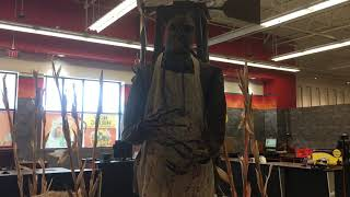 Spirit Halloween 2018 Animated Burlap Horror