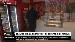 Coronavirus : une protection en plastique pour les commerçants