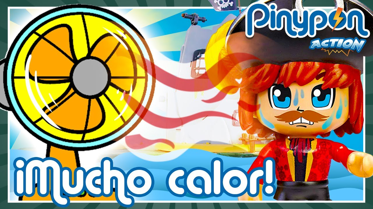 SUPER VERANO en la ISLA PIRATA de Pinypon Action 🌞😓 ¡Los PIRATAS Pinypon tienen MUCHO CALOR!