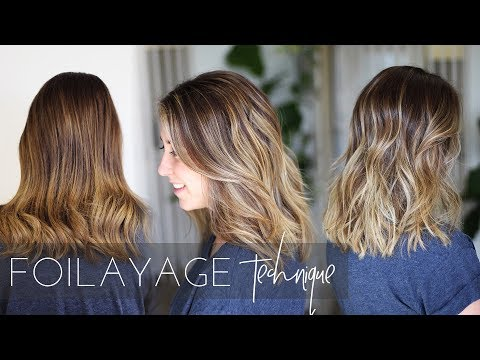 Foilayage Hair Technique - How to Balayage Brunette Hair (Easy Tutorial)
