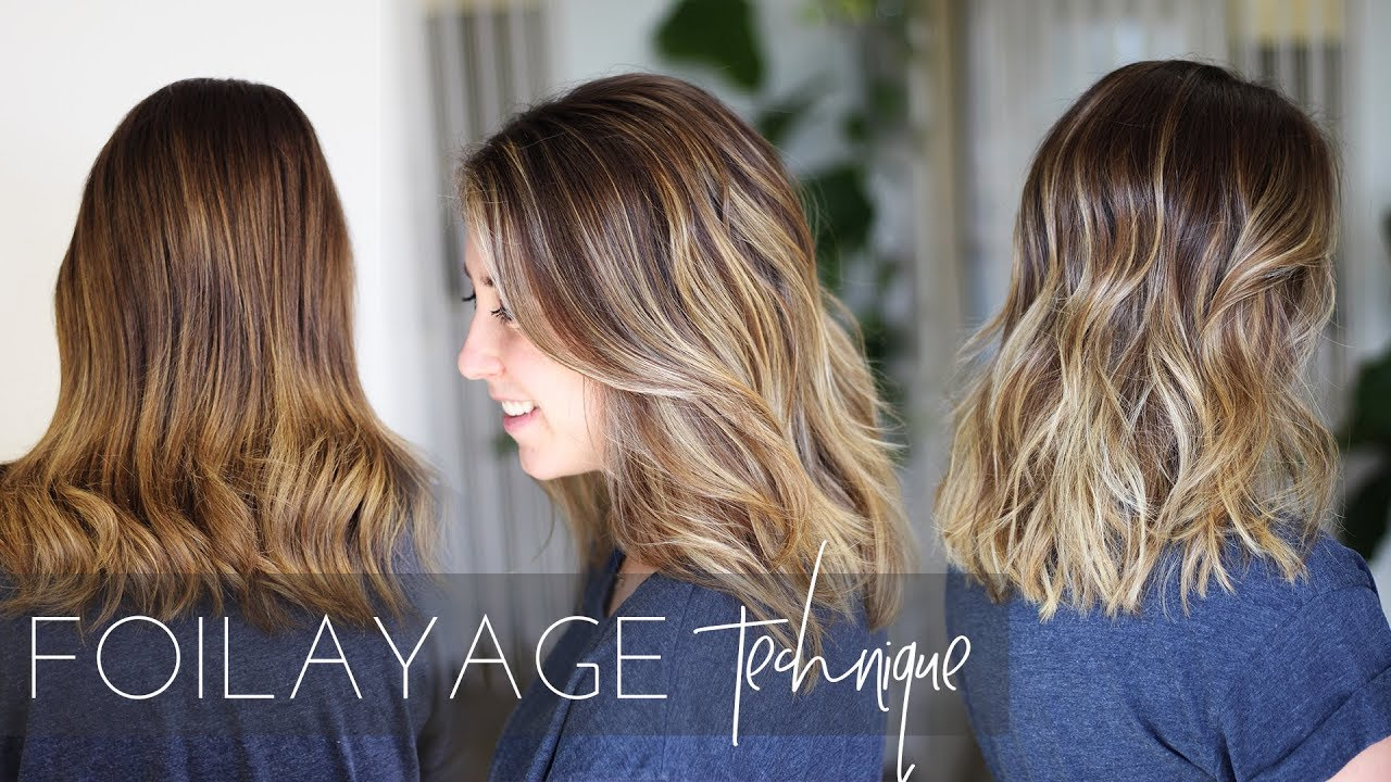 Foilayage Hair Technique How To Balayage Brunette Hair Easy Tutorial
