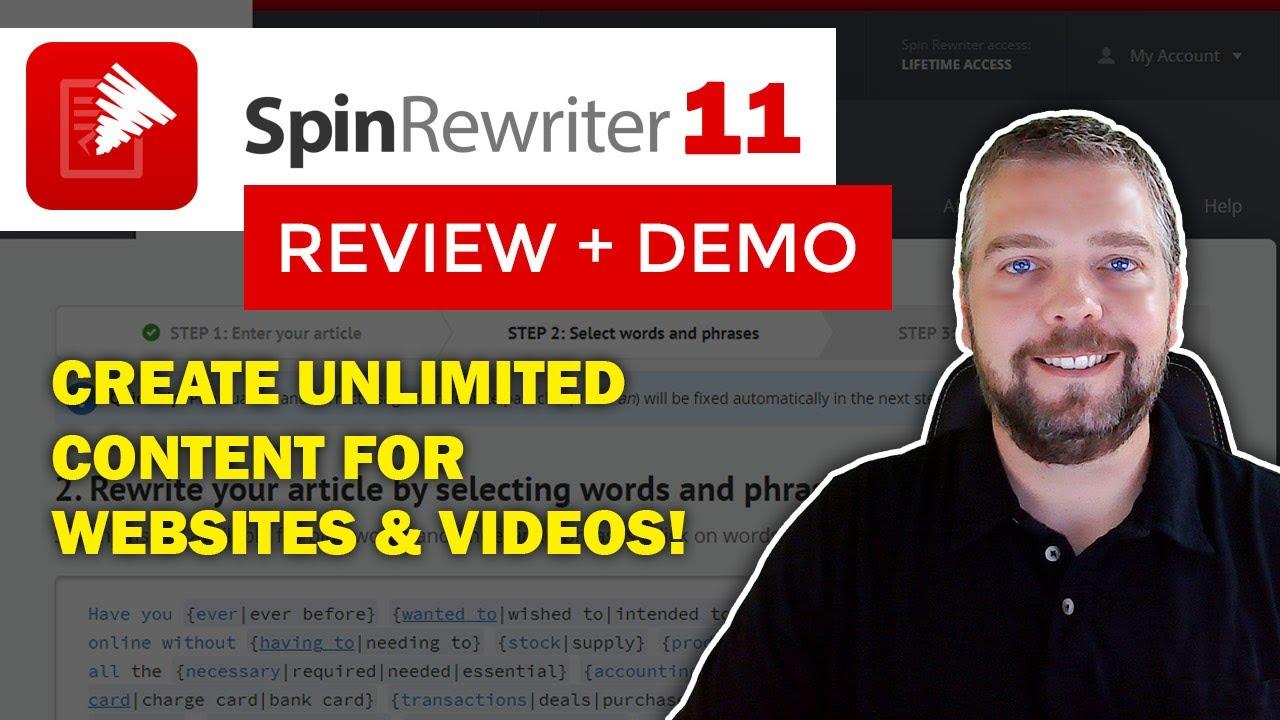 Get Free Spin Rewriter 4.0 Bonus Downloads ... - Dailymotion