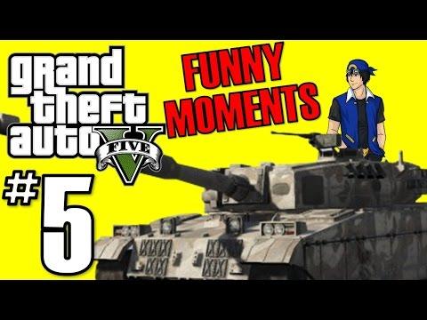 [5] GUYS! I STOLE A TANK! (GTA 5 PC Funny...