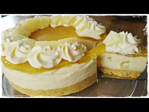 fruchtige ananas torte mit frischk se ohne backen youtube. Black Bedroom Furniture Sets. Home Design Ideas