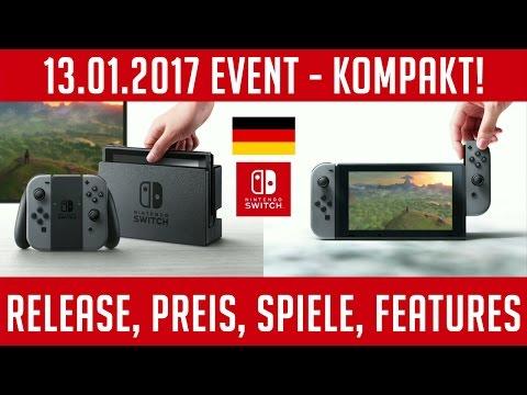 NINTENDO Switch - Release, Preis, Spiele, ALLE INFOS (13.1.17 Event)