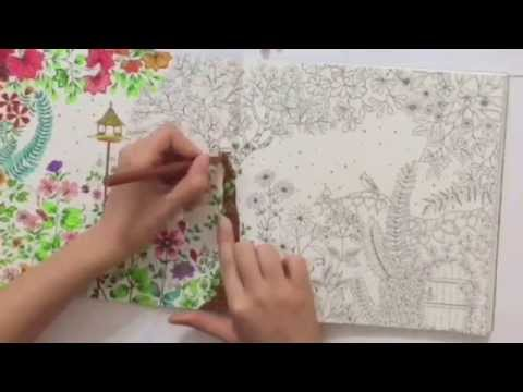Coloring Book Secret Garden : Secret garden coloring book page 1 2 youtube