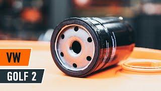 Cómo cambiar la filtro de aceite y aceite de motor en VW GOLF 2 [VÍDEO TUTORIAL DE AUTODOC]