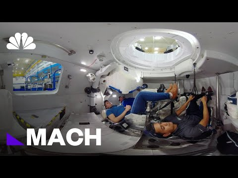360 Video: Inside Boeing's Starliner Capsule | Mach | NBC News