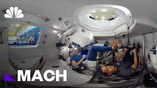 360 Video: Inside Boeing's Starliner Capsule | Mach | NBC News