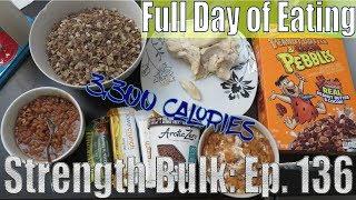 OMAD 3,300 Calories Full Day of Eating | Vlog | Strength Bulk Ep. 136