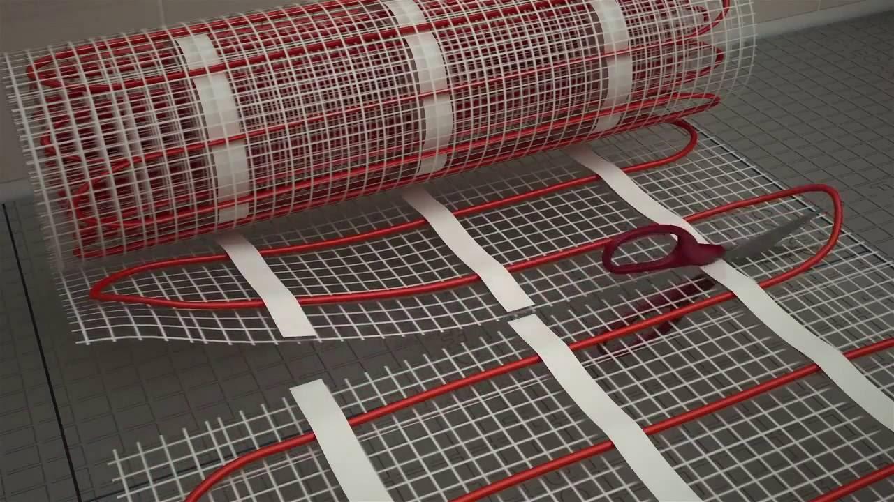 Монтаж теплого пола Fenix Ecofloor Mat под плитку