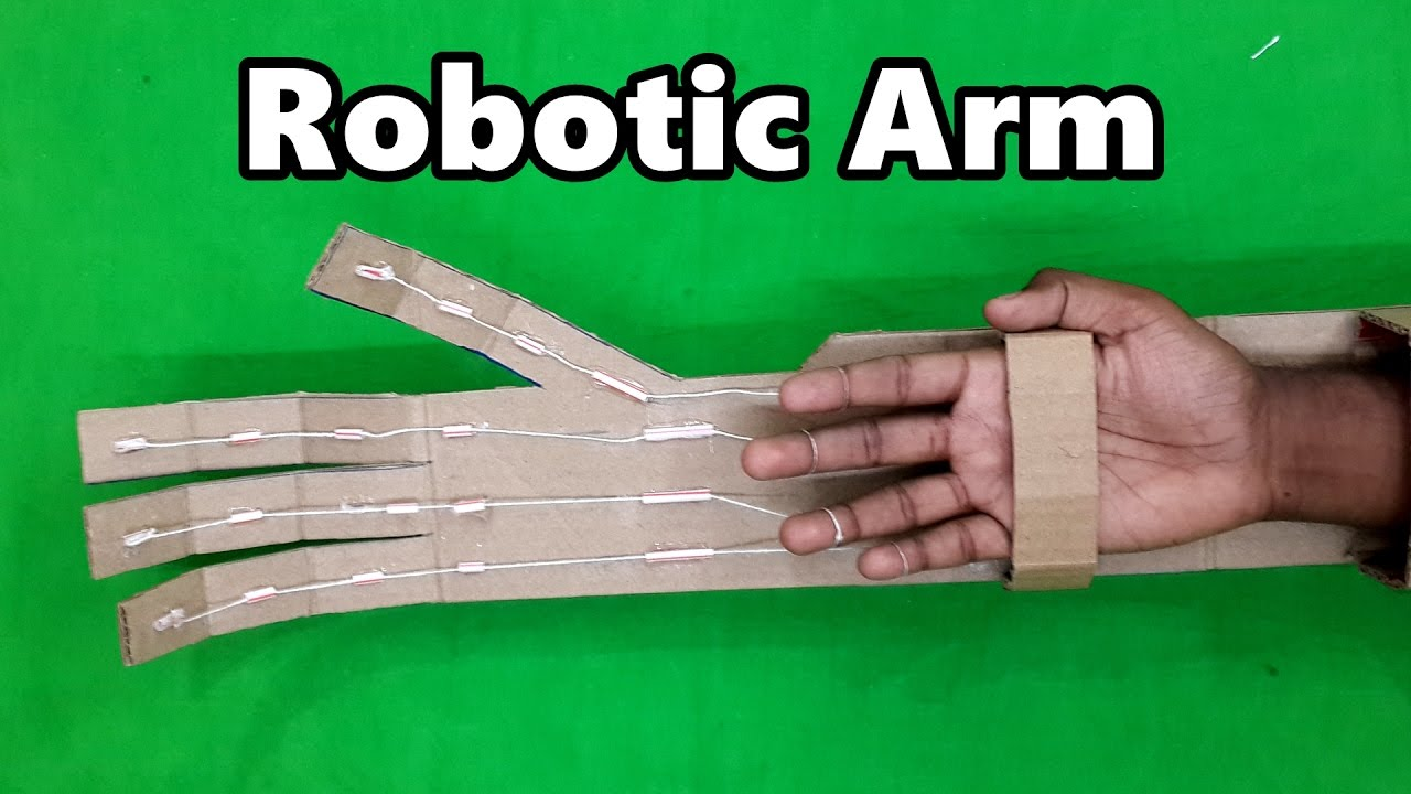 Blueprints Robot Arm Made Out Of Cardboard : How to make a robotic arm using cardboard very easy