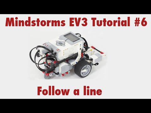 Mindstorms EV3 Tutorial #6: Use the color sensor to follow a line