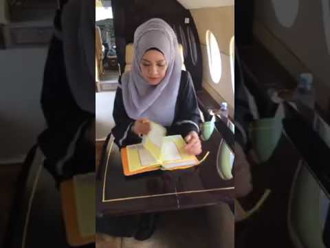 Quran in a private jet