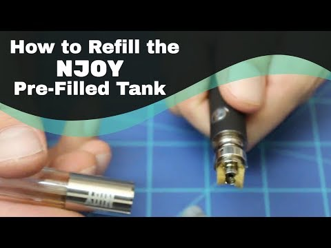 How To Refill The NJOY Pre Filled Tanks