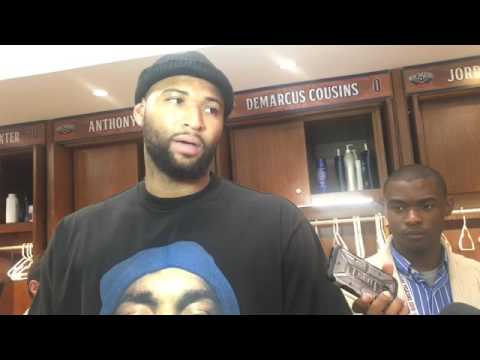 DeMarcus Cousins on Jrue Holiday