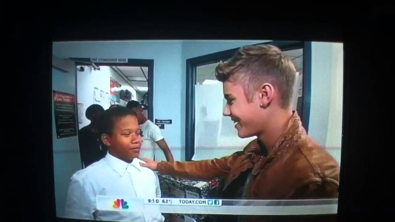 Justin at Whitney Elementary (from the Today Show)