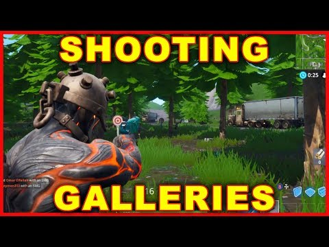 Fortnite Shooting Gallery Locations (SEASON 7 CHALLENGES)